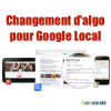 Changement algo Google Maps