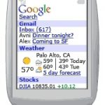 Page d'accueil personnalisée sur téléphones mobiles