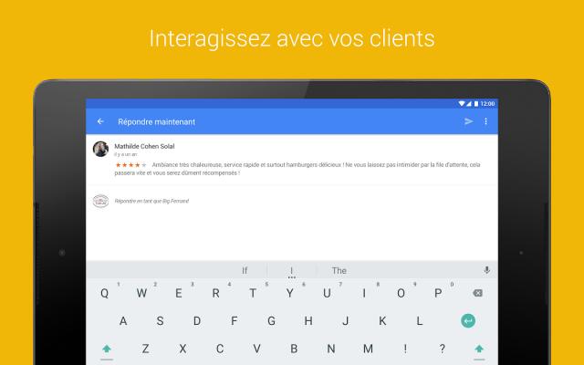 Répondre aux avis sur Google My Business (app)