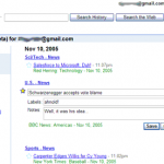 Historique des recherches dans Google News