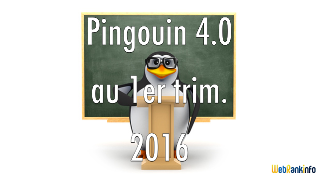 Google Pingouin 1er trimestre 2016