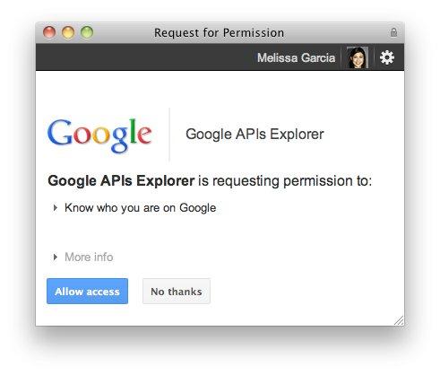 Google+ API Explorer