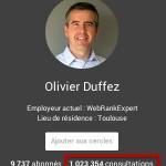 Nombre de vues des pages et profils Google+