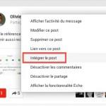 Comment intégrer un post Google+ sur son propre site?