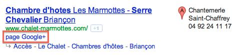 Lien vers page Google+ dans les SERP classiques
