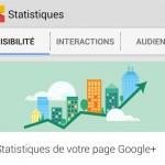 Guide de Google+ Insights, les statistiques des pages Google+