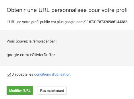 URL personnalisée: début