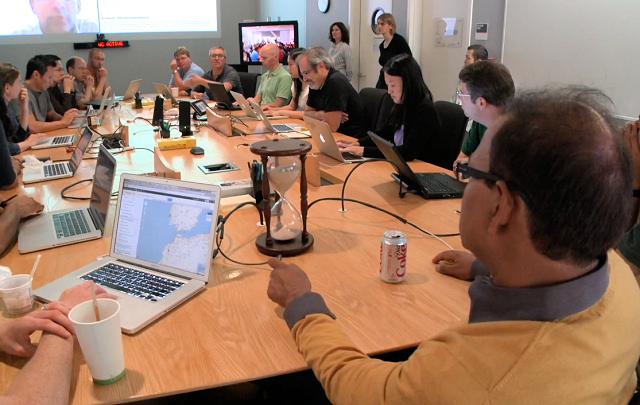 Une réunion de l'équipe qualité de la recherche chez Google