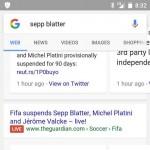 Google teste des résultats temps réel avec une étiquette rouge LIVE