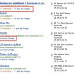 SERP Google: changement d'interface pour le local et les avis