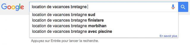 Google suggest autocomplete