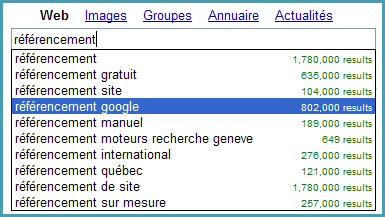 Google Suggest 2004