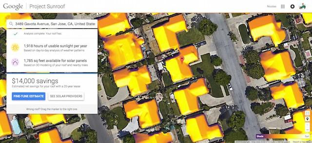 Google Sunroof veut vous aider à économiser en installant des panneaux solaires sur votre toit