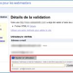 Droits d'accès multi-utilisateurs dans Google Webmaster Tools