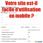 Compatibilité mobile Google Webmaster Tools