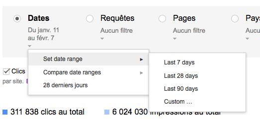 GWT Impact recherche filtres dates