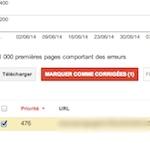 A quoi correspond Marquer comme corrigée dans Google Search Console ?