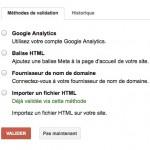 Gestion des propriétaires d'un compte Google Webmaster Tools
