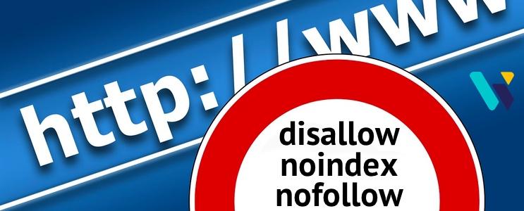Disallow, noindex et nofollow