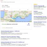 Google affiche parfois une grande carte d'itinéraire en haut des résultats