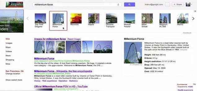 Knowledge graph: liens images requetes
