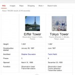 Le Google Knowledge Graph affiche des tableaux comparatifs