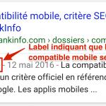 Le label Site mobile a été retiré des résultats Google