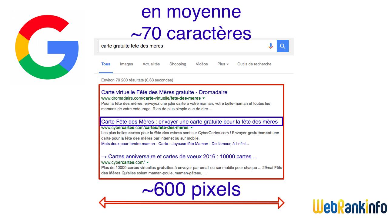 Largeur titre résultats Google