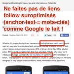Liens suroptimisés dans les blogs, risqués pour le SEO Google