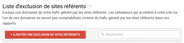 Liste d'exclusion des sites référents