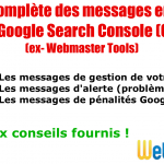 Explications des 31 types de messages envoyés par Google Search Console