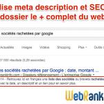 Balise meta description et référencement Google