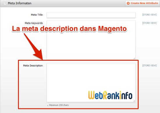 Meta description Magento