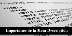 Meta Description et SEO