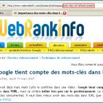 Importance des mots-clés dans l'URL pour le référencement