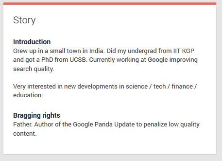 Navneet Panda, auteur de l'algo de Google Panda