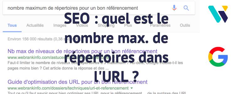 Nombre de répertoires dans URL et SEO