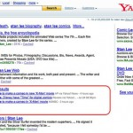 Des remontées de Yahoo News dans les résultats web