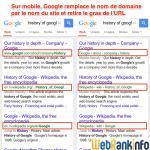 Sur SERP mobiles, Google affiche le nom du site au lieu du nom de domaine