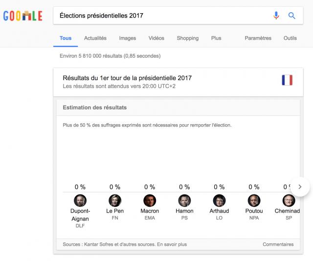 Onebox élections présidentielles 2017 France desktop