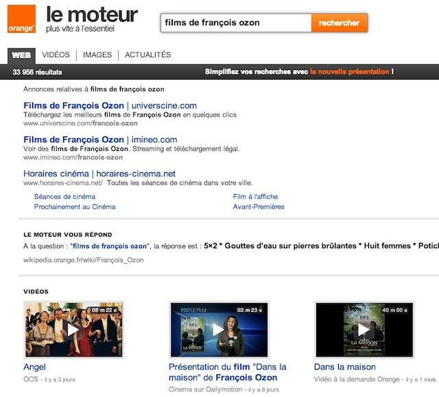 Orange : résultats films vidéos