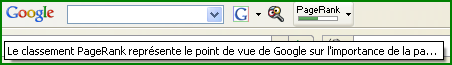 PageRank toolbar