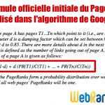 Explications sur la formule du PageRank