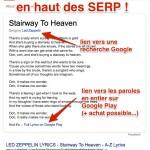 Google affiche les paroles des chansons dans les SERP + un lien vers Google Play