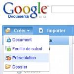 Google Présentations, une sorte de Powerpoint en ligne et gratuit