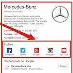 Comment définir les URL de profils sociaux liés à un site, pour le Knowledge Graph de Google