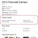 Google ajoute des publicités dans l'encadré Knowledge Graph