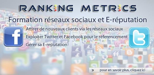 Formation réseaux sociaux de Ranking Metrics
