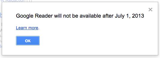 Fin de Google Reader