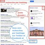 Google lance la recherche par hashtag sur son moteur et met en avant Google+